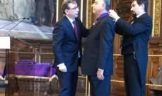 رئيس جكومة فرنسا يمنح السفير خليل كرم وسام السعفة الأكاديمية برتبة كومندور
