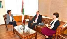 دوكان التقى رياشي: على الحكومة أن تسعى لانضمام لبنان الى مبادرة