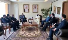 أرسلان زار سفارة الكويت على رأس وفد معزيا بالأمير الصباح