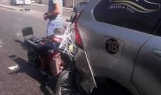 """""""النشرة"""": وقوع جريح نتيجة حادث تصادم بين سيارة ودراجة كهربائية بالشماع"""