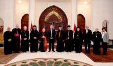 بطاركة الشرق الكاثوليك زاروا رئيس الجمهورية العراقي مهنئين بإنتخابه