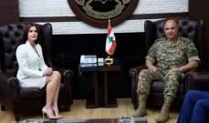 ستريدا جعجع: نؤيد الدولة الفرنسية في تحضيرها لمؤتمر دولي لدعم الجيش