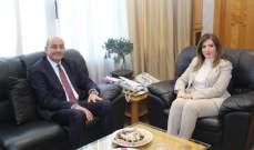 وزيرة العمل بحثت مع سفير تركيا وجردات سبل التعاون