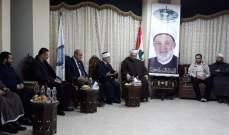 أمين عام حركة الأمة التقى المفتي العام للقدس والديار الفلسطينية