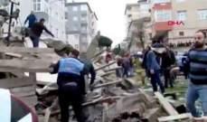 انهيار مبنى من 6 طوابق في اسطنبول