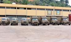 الجيش اللبناني تسلّم 14 آلية وعتاد عائد لها هبة من السلطات الأسترالية