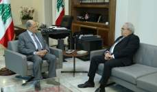 الرئيس عون بحث مع النائب ماريو عون بشؤون الساعة وحاجات الشوف الإنمائية