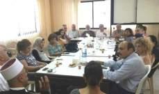 المؤسسات الأهلية في صيدا وجوارها عقد إجتماعا لمناقشة قضية النفايات