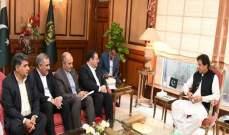 عمران خان أكد التزام باكستان بتعزيز علاقاتها الثنائية مع إيران