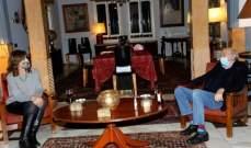 جنبلاط عرض مع السفيرة الأميركية التطورات الراهنة