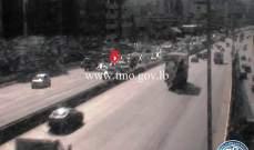 جريح نتيجة تصادم بين مركبتين على جسر أنطلياس- المسلك الشرقي