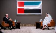 بن زايد بحث مع أبرامز بالعلاقات الاستراتيجية بين الإمارات وأميركا ومستجدات الأوضاع بالمنطقة