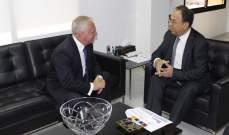 بطيش تابع اوضاع قطاع التأمين في لبنان والتقى سفير أرمينيا