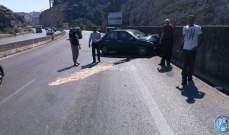 جريح نتيجة اصطدام سيارة بالحائط على أوتوستراد المتن السريع باتجاه رومية