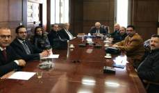 اجتماع للجنة المكلفة متابعة ملف الباخرة التي اغرقتها قوات اسرائيل قبالة شواطىء طرابلس