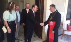 وزير الاتصالات التقى الراعي: أثنيت على مواقفه الوطنية والجامعة