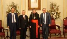 الراعي التقى عضو اللجنة التنفيذية لمنظمة التحرير الفلسطينية
