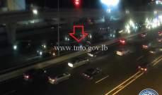 التحكم المروري: تصادم بين مركبتين على اوتوستراد جل الديب المسلك الغربي