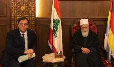 الشيخ نعيم حسن يلتقي السفير الفرنسي وظافر ناصر