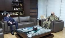 قائد الجيش بحث مع سفير لبنان في الأرجنتين اخر التطورات والاحداث