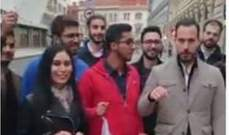 الجالية اللبنانية في براغ تظاهرت تضامنا مع المتظاهرين في المناطق
