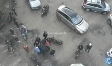 التحكم المروري: قطع الطريق على كورنيش المزرعة عند تقاطع عبد الناصر