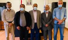 منفذ عام النبطية بالحزب السوري القومي بحث مع محافظ المدينة الوضع العام على صعيد المحافظة