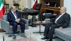 الرئيس عون عرض مع حسين للأوضاع العامة بالبلاد والمشاريع الإنمائية بعكار