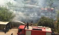النشرة: اخماد حريق داخل أحد البساتين في صيدا