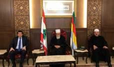 شيخ العقل التقى مدير عام الإسكان وترأس اجتماعي مجلسي الإدارة والاوقاف