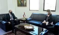 وزير الخارجية استقبل سفيري اليونان والصين وتلقى رسائل ديبلوماسية