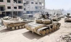 سانا: اتفاق على وقف اطلاق النار في الغوطة الغربية بعد استسلام المسلحين