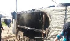 وفاة نازحين سوريين اثنين نتيجة حريق في مخيم في اليمونة
