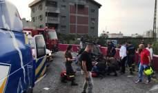 الدفاع المدني: جريح إثر اصطدام سيارته بحافة الطريق في ذوق مصبح وانقلابها