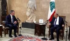 رئيس الجمهورية استقبل وزير الخارجية السويسري وعرض لعلاقات البلدين