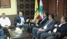مسؤول منطقة صيدا في حزب الله إستقبل وفدا قياديا من الجهاد الإسلامي