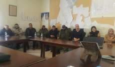 إعتصام لموظفي وعمال بلدية النبي شيت احتجاجا على عدم دفع رواتبهم