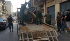 شرطة بلدية طرابلس صادرت بسطات وعربات مخالفة