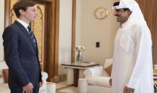 أمير قطر يلتقي مستشار الرئيس الأميركي جاريد كوشنر في الدوحة