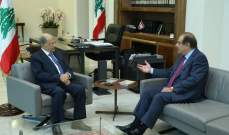 الرئيس عون التقى قزي وأجرى معه جولة أفق تناولت الأوضاع العامة في البلاد