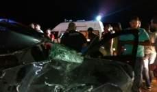قتيل نتيجة اصطدام سيارة بالفاصل الوسطي على عند محلة ابو الاسود