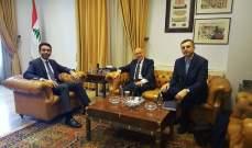 شبيب التقى السفير الاوكراني وبحث تطويرالعلاقات الثنائية بين بيروت وكييف