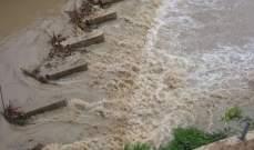 النشرة: نهر الحاصباني يفيض بسبب بدء ذوبان الثلوج
