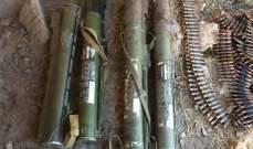 الجيش ضبط مخزنا من مخلفات الجماعات الإرهابية في جرود رأس بعلبك