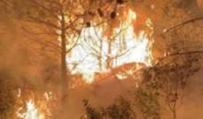تجدد الحريق في كفرحبو وتمدده إلى أراض زراعية ومنازل