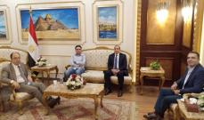 حمية وصل إلى القاهرة للمشاركة في اجتماعات مجلس وزراء النقل العرب