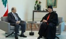 الرئيس عون يلتقي البطريرك الراعي في هذه الاثناء