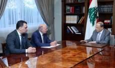 الرئيس عون التقى النقيب تابت وعضو نقابة المعماريين العرب فراس مرتضى