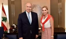 مخزومي عرض الأوضاع مع السفيرة السويسرية