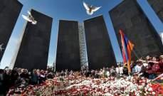 انطلاق المسيرة التي تنظمها الاحزاب الأرمنية في ذكرى الابادة الأرمنية